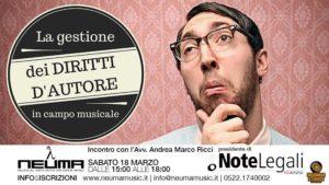 La gestione dei Diritti d'Autore in campo musicale @ NEUMA | Reggio Emilia | Emilia-Romagna | Italia