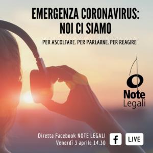 Aiuti ad autori e artisti per l'emergenza coronavirus: aggiornamenti in diretta Facebook @ Pagina Facebook Note Legali