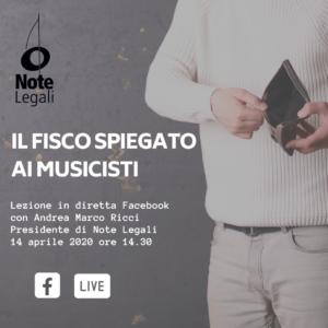Il FISCO spiegato ai Musicisti @ Pagina Facebook Note Legali