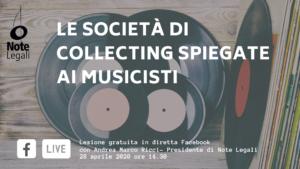 Le Società di Collecting spiegate ai musicisti @ Pagina Facebook Note Legali