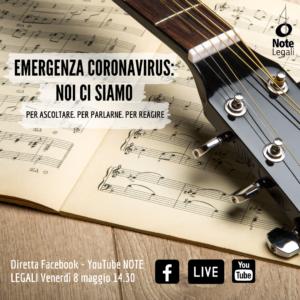 Musicisti: emergenza, ripartenza, riforme, tutele @ Pagina Facebook Note Legali